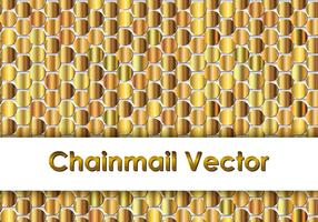 Gold Chainmail Background