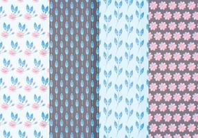 Vector Pastel Floral Patterns