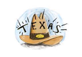 Free Texas Hat Watercolor Vector