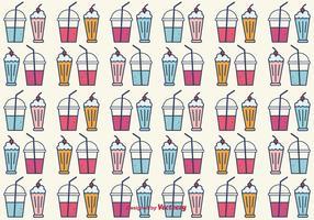 Smoothie and Milkshake Vector Background
