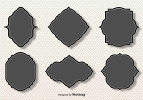 Simple Vector Gray Cartouches