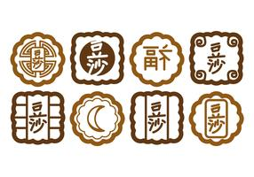 Mooncake Vector