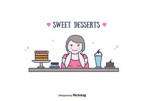 Sweet Desserts Vector