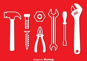 Repair Tools White Icons