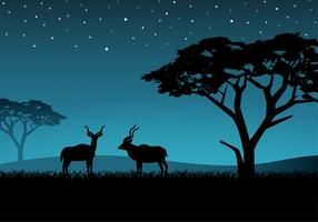 Free Couple Kudu Vector