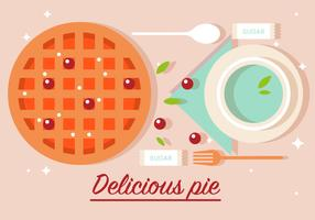 Free Delicious Pie Vector Illustration