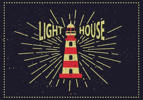 Free Vintage Lighthouse Vector Illustration