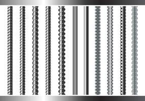 Sreel Rebars Set on White Background