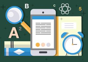 Free Flat Science and Tech Vector Illustration