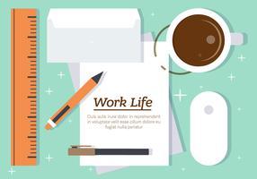 Free Work Life Vector Illustration
