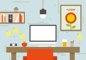 Photographers Workspace Concept Vector Illustration