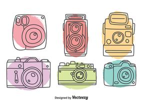 Hand Drawn Camera Collection Vector