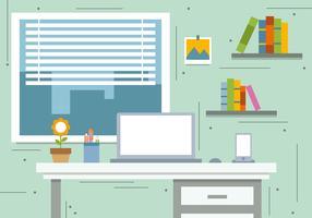 Free Book Workstation Vector Illustration