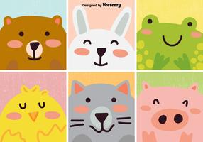 Vector Set Of Cute Cartoon Animal