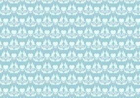 Sky Blue Vector Western Flourish Pattern