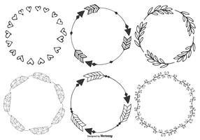 Cute Hand Drawn Boho Frames