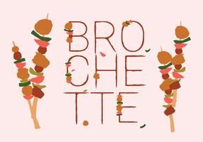 Free Colorful Brochette Food Vector