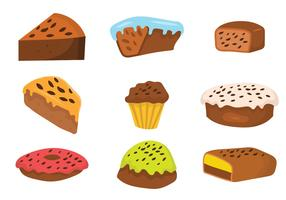 Free Raisins Cake Vector Set