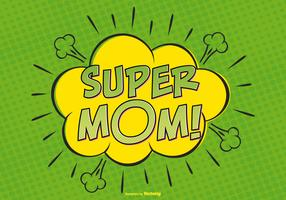 Comic Super Mom Illutytration
