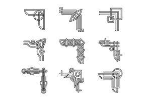 Free Ornamental Corners in Celtic Style Vector