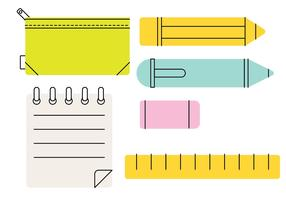 Pencil Case Stylized Vector