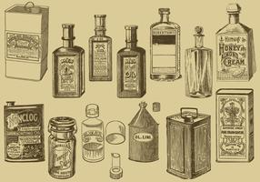 Vintage Oil Bottles And Cans