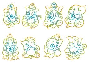 Free Ganesh Icons Vector