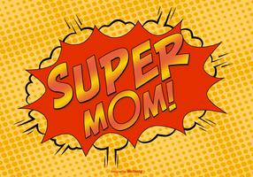 Comic Style Super Mom Illustration