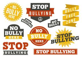 Free Stop Bullying Design Elements Vector