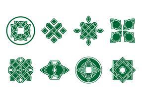 Free Green Celtic Ornament Vector