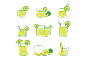 Caipirinha cocktail Icons