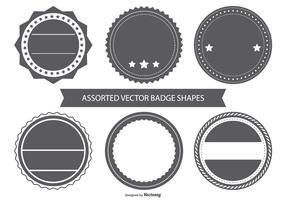 Blank Vintage Badge Shapes