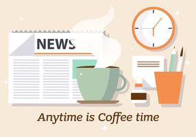 Free Coffee News Vector Illustration