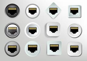 Network socket RJ45 icon