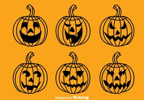 Halloween Pumpkin Collection Vector
