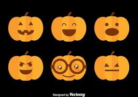 Hallowen Pumpkin Flat Vector