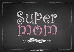 Free Super Mom Lettering Vector Design