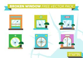 Broken Windows Free Vector Pack