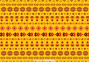 Ethnic Seamless Orange Background