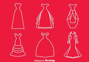 Bridesmaid Line Vector