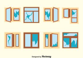Broken Window Vector Set