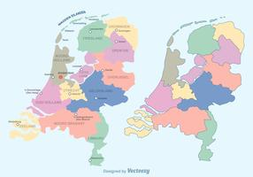 Free Colorful Netherlands Map Vector