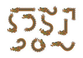Decorative Quetzalcoatl Vectors
