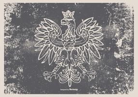 Grunge Polish Eagle Illustration