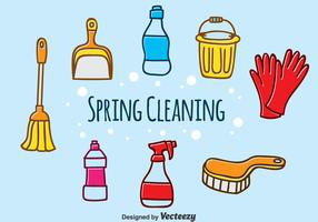 Hand Drawn Spring Cleaning Vector