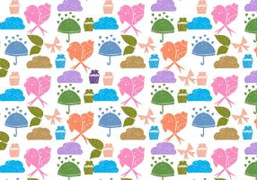 Free Vector Love Birds Doodle Background