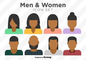 Vector Set Of Colorful Person Icons