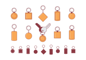 Key Chains Flat Icons