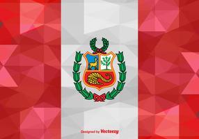 Vector Abstract Flag of Peru Illustration