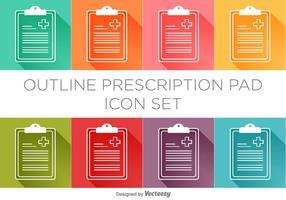 Vector Prescription Pad Icon Set